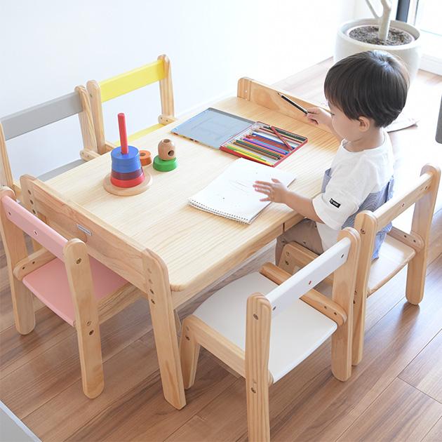 【500円OFFクーポン配布中】 Circle キッズワークデスク ラージデスク キッズデスク 勉強机 学習デスク 木製 ワークデスク 子供用 4人 ローテーブル 引き出し