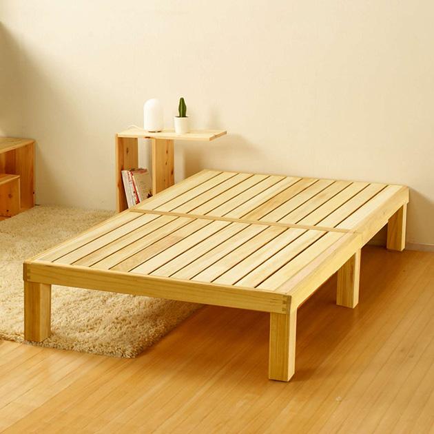 Homecoming ホームカミング 桐のすのこベッド シングル ナチュラル すのこベッド ベッド すのこ シングル 桐 国産 日本製 布団 マットレス 天然木