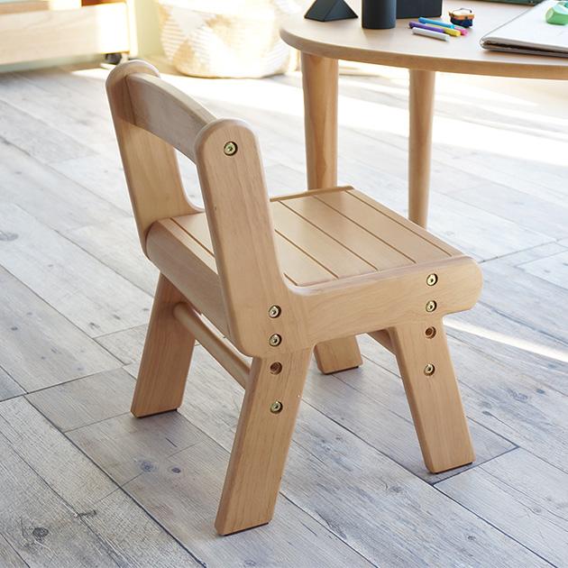 インテリアに馴染む天然木のナチュラルカラー はじめての家具にぴったりなキッズチェア キッズチェア 木製 na-ni なぁに Wood Chair ウッド ナチュラル シンプル こども 天然木 椅子 あす楽対応 ノベルティ対象外 子供 高さ調整 [並行輸入品] 贈答品