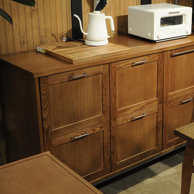 journal standard Furniture ジャーナルスタンダードファニチャー BRISTOL キッチンカウンター 【ノベルティ対象外】 家具 木製 幅130 キャビネット キッチン 収納 コンセント ビンテージ
