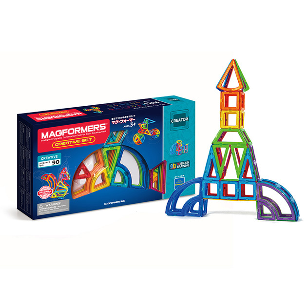 マグ フォーマーの基本90ピースセット 基本的な形のすべてとカーブを描くもの全13種の形があり バリエーション豊かに遊べます 3歳 知育玩具 日本正規品 ボーネルンド フォーマー クリエイティブセット ブロック あす楽対応 ラッピング対応 アウトレットセール 特集 ギフト 磁石 プレゼント マグフォーマー オンラインショップ 2歳 おうち時間 90ピース