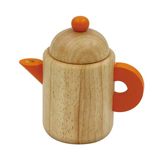 子供が大好きなごっこ遊びにぴったり 木製かわいいティーポット ブランド買うならブランドオフ エド インター 木のままごとあそび ティーポット マーケティング ティーバッグ付 おうち時間 ままごと あす楽対応 ごっこあそび ポット おままごと ごっこ遊び 木のおもちゃ おもちゃ 木製