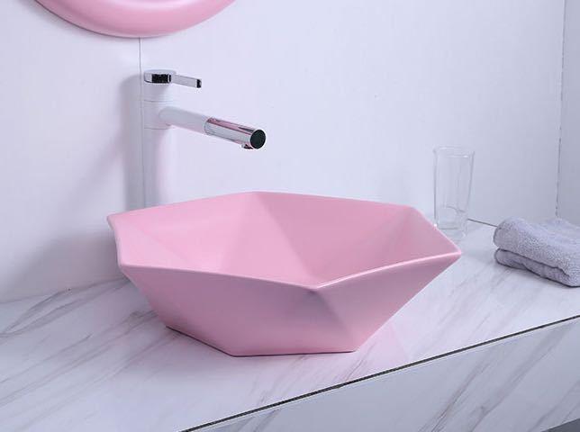最新号掲載アイテム ~生活をカラフルオシャレに~ 最安値 陶器洗面ボウルセット 洗面ボール 手洗い鉢 洗面器 手洗器 蛇口.排水金具付き