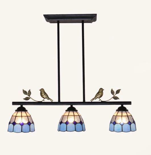 天井照明ステンドグラス ペンダントライト ステンドグラスランプ ガラス工芸品