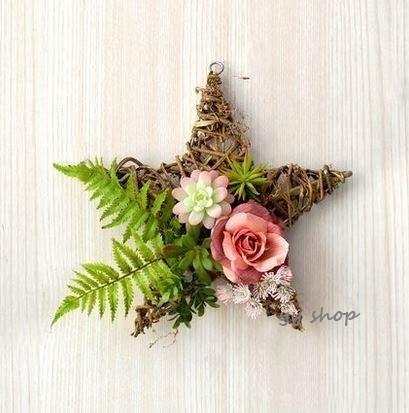 ~生活をカラフルオシャレに~ 0920T6-2壁飾り 人工観葉植物 低廉 壁掛けインテリア 壁掛けミックスグリーン ディスプレイ 壁掛け 造花 正規品送料無料