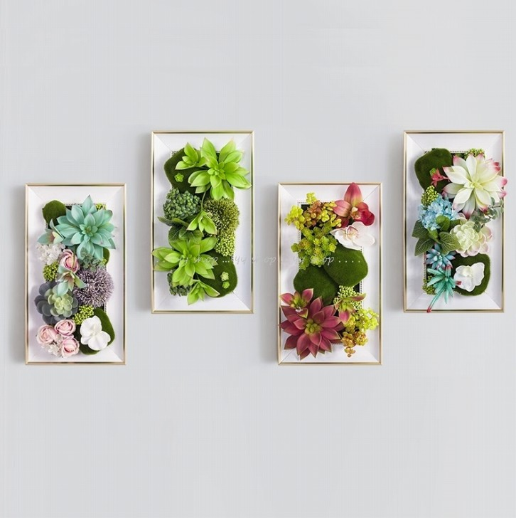 低価格化 ~生活をカラフルオシャレに~ レビューを書けば送料当店負担 0920T13-5壁飾り 人工観葉植物 壁掛けインテリア 造花 壁掛けミックスグリーン ディスプレイ 壁掛け