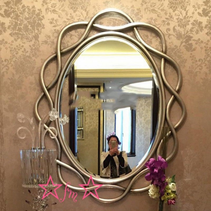 高級豪華鏡 アンティーク調 .大型壁掛け鏡 壁掛け 壁掛けミラー ウォールミラー 70x100cmサイズオーダー可能