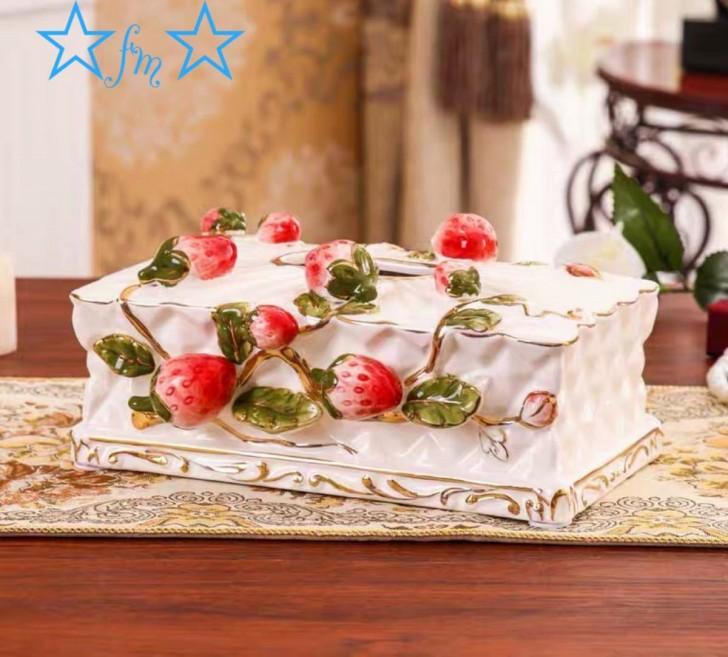 ~生活をカラフルオシャレに~ 高級感のある ティッシュケース 商品 陶器製 安心と信頼