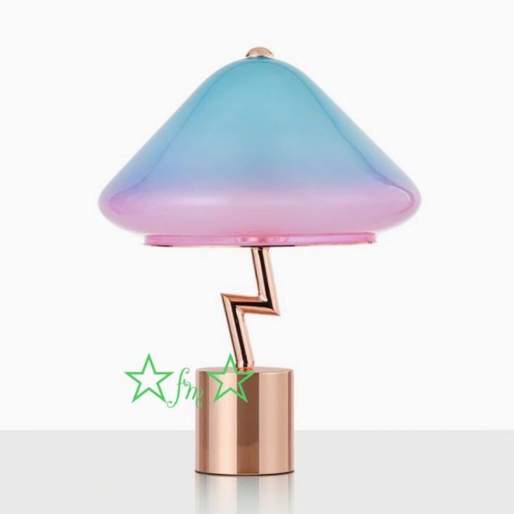 ~生活をカラフルオシャレに~ 完売 高級品 照明スタンドライト テーブルランプ デスクライト 卓上ステンド .高級スタンド 高さ42cm