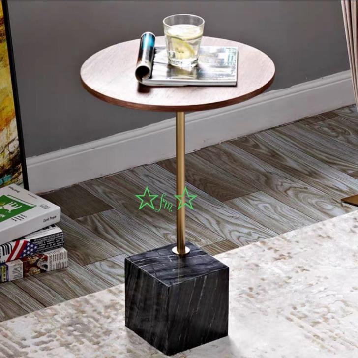 休日 ~生活をカラフルオシャレに~ 飾り台 大理石ローテーブル .リビングテーブル センターテーブル ミニテーブル サイドテーブル 高級寝室用テーブル 国産品