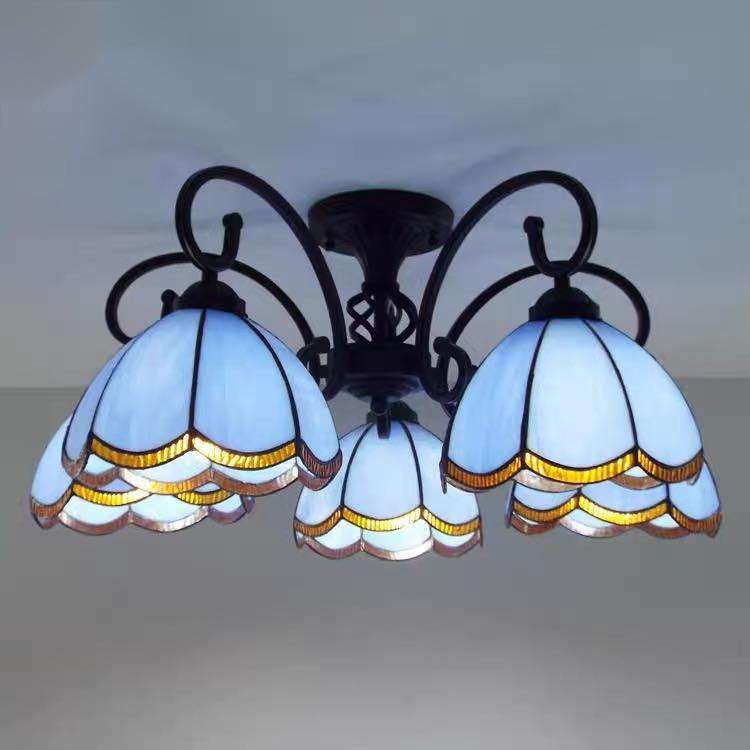 豪華天井照明ステンドグラスランプ ペンダントライト ガラス工芸品 ステンドグラス