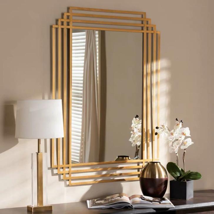 壁掛け鏡 壁掛け 壁掛けミラー ウォールミラー 80x120cm 高級豪華鏡 アンティーク調 サイズオーダー可能