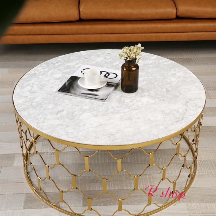 高級大理石ローテーブル .センターテーブル テーブル 北欧風サイドテーブル コーヒーテーブル 幅90cm