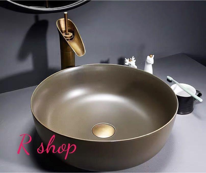 ~生活をカラフルオシャレに~ トレンド 高級置き型洗面ボウルセット .手洗い器 蔵 デザイン 陶磁器 洗面台 手洗い鉢 排水ホース付き 蛇口