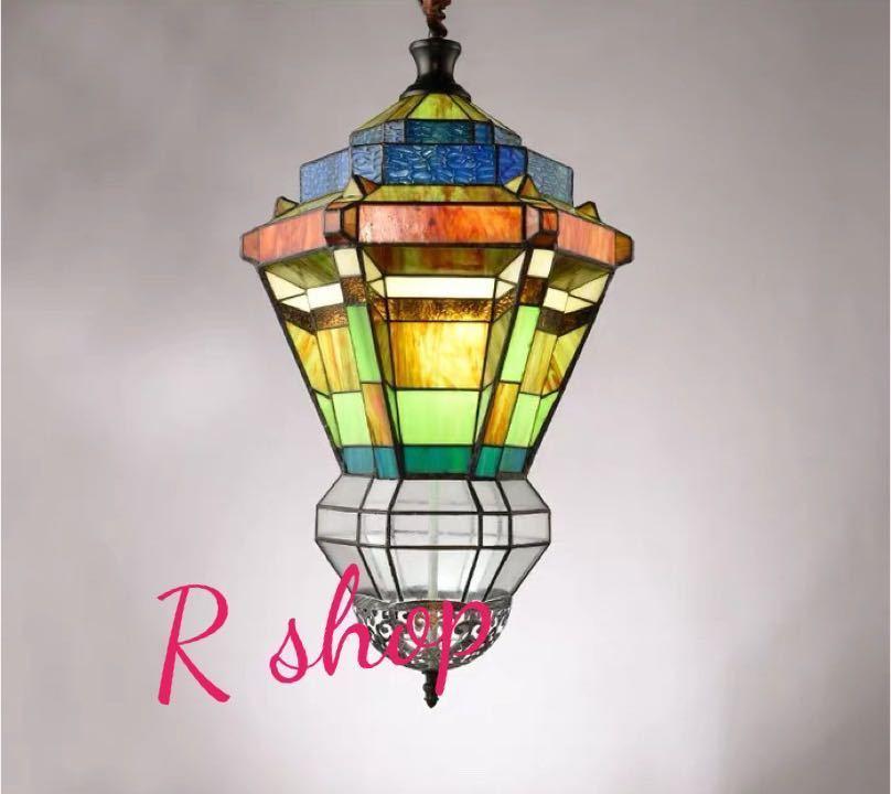 ~生活をカラフルオシャレに~ 豪華天井照明ステンドグラスランプ ペンダントライト セール ステンドグラス ガラス工芸品 トレンド