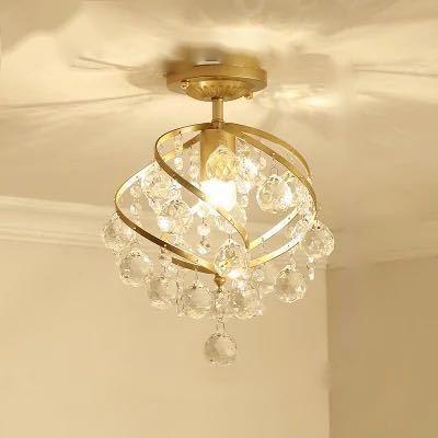 0720ペンダントライト.洋風照明 シャンデリア 北欧デザイン シーリングライト 天井照明 水晶 1灯