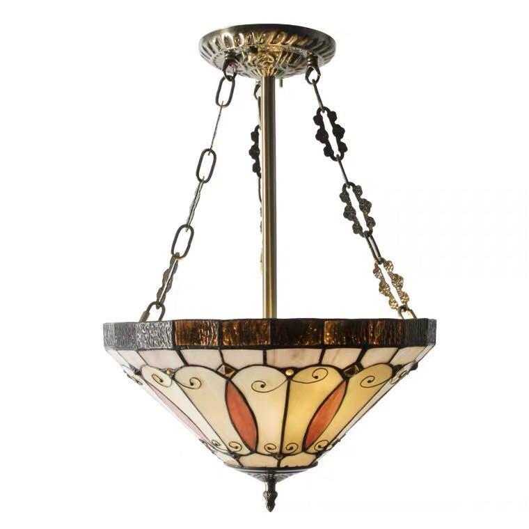 ~生活をカラフルオシャレに~ NEW ARRIVAL ステンドグラス 時間指定不可 ペンダントライト豪華天井照明ステンドグラスランプ 高級照明 ガラス工芸品