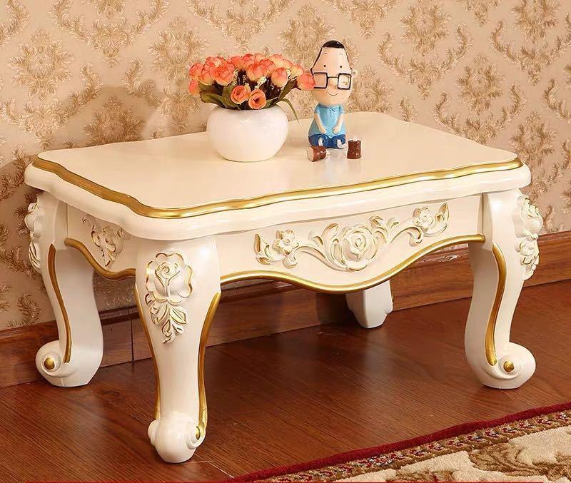 ~生活をカラフルオシャレに~ ローテーブル 安い 激安 プチプラ 高品質 ヨーロッパ調 センターテーブル ミニテーブル.アンティークロココ調 特価 幅50cm
