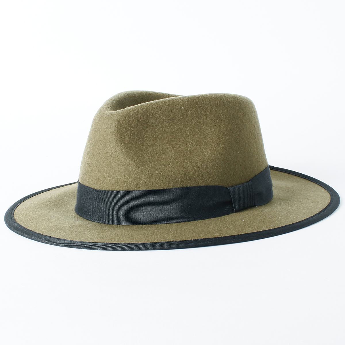 Tuba wide felt Hat [wide brim hat, FELT, hat, women's and men's, wool, target and store, fashionable and fashion, simple, gentleman Hat /RIVER UP ( riverup )-Wide Brim Felt Hat [BASIQUENTI]