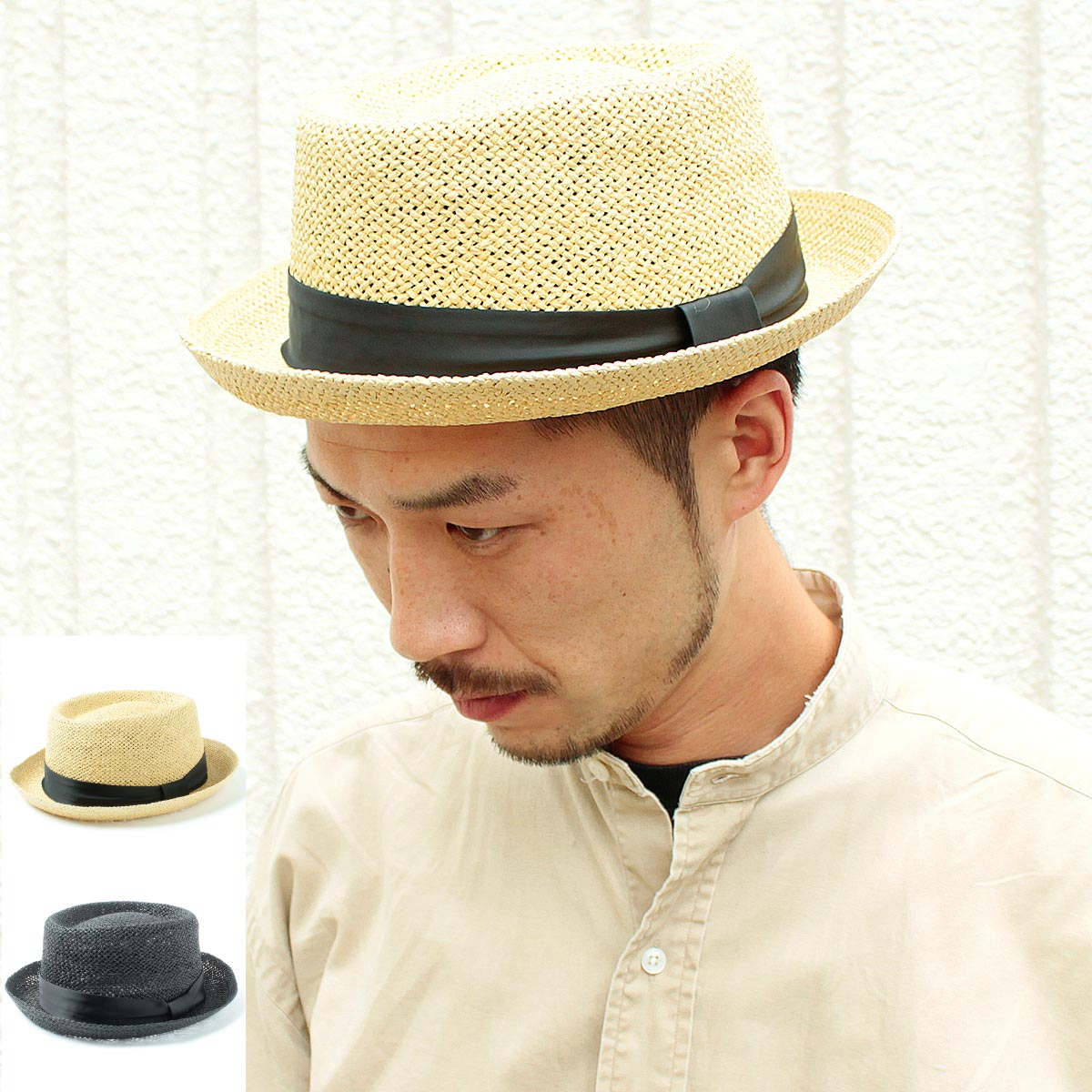 0af7f304a Natural materials natural straw pork pie Hat! Products - Paper Porkpie Hat  walking, walks, unisex-unisex men's hats, straw paper hats テラピンチ