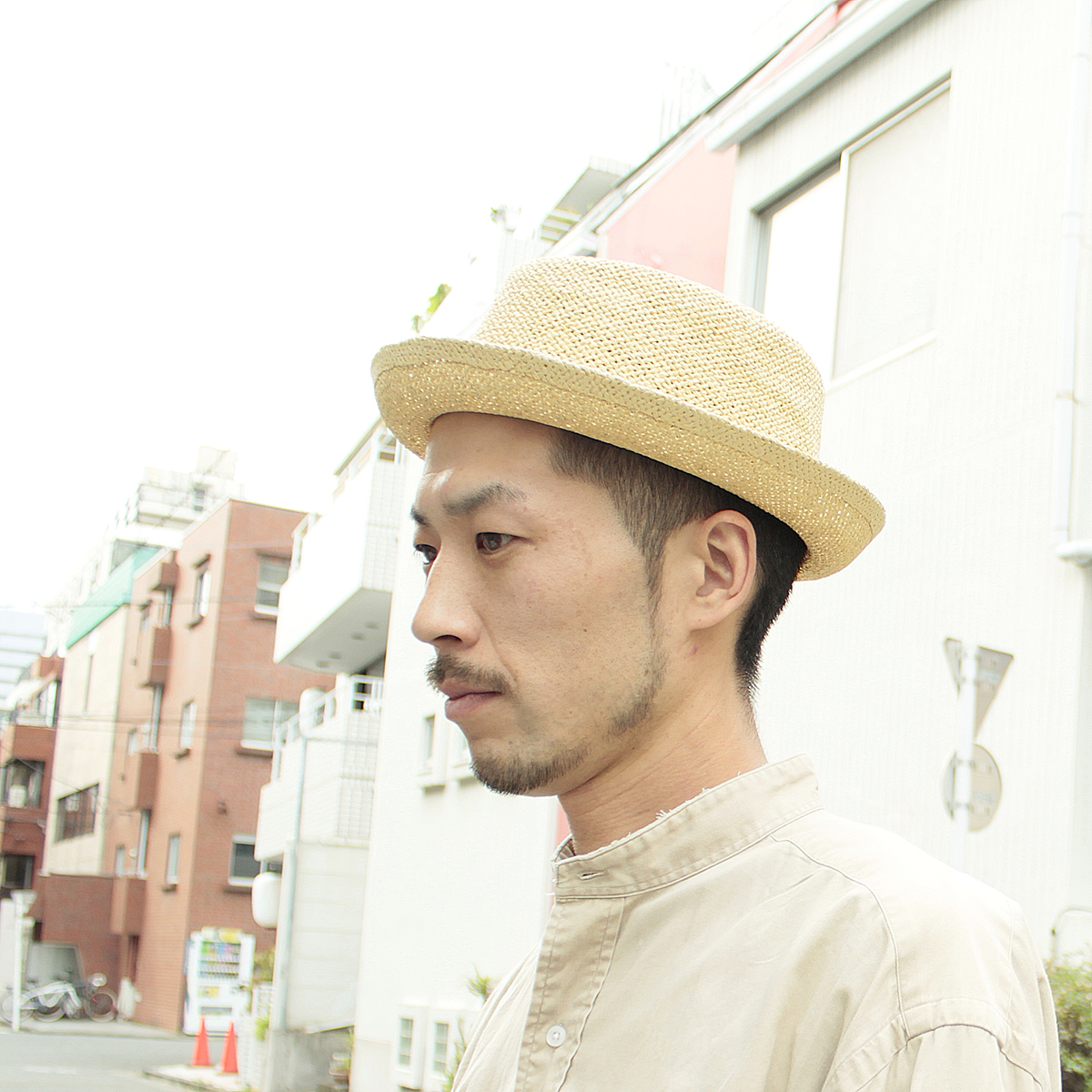 Natural materials natural straw pork pie Hat! Products - Paper Porkpie Hat  walking c77ca343a5be