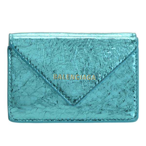 バレンシアガ BALENCIAGA ショップ袋付き 三つ折り財布 ミニ アウトレット ペーパー PAPIER PAPER 3914460gt4n4210 | さいふ 財布 カード入れ 小銭入れ レディース オシャレ 小さい 小さめ コンパクト ブランド