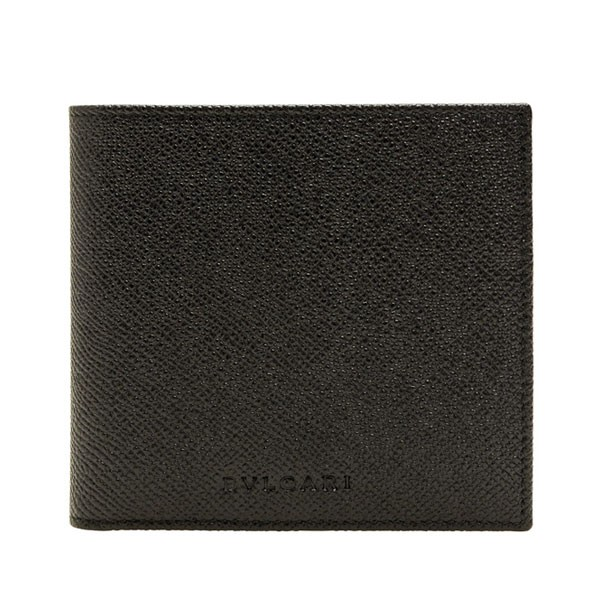 ブルガリ 財布 BVLGARI メンズ二つ折り財布 ブラック グレインレザー 20253 アウトレット店買付 令和 記念