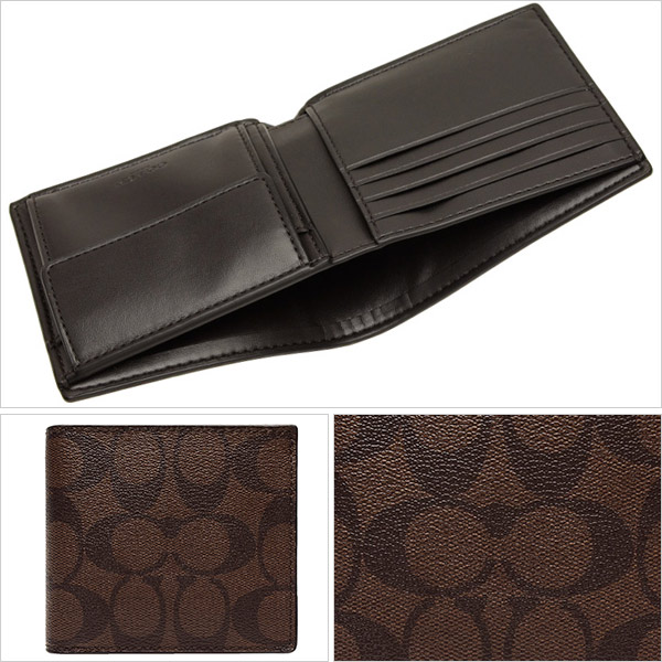 "coach purse outlet store vgy8  Coach purse COACH men's two-fold ""coin purse signature wallet,  mahogany x"