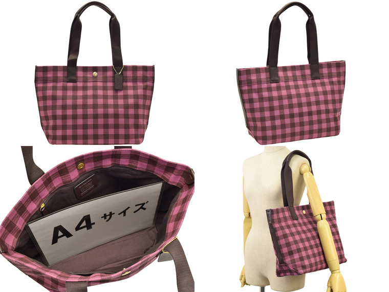 4233e360 Coach COACH tote bag gingham check outlet f39848imo2z | Shoulder bag back  bag bag A4 commuting trip shawl cute cute stylish fashion lady's brand ...