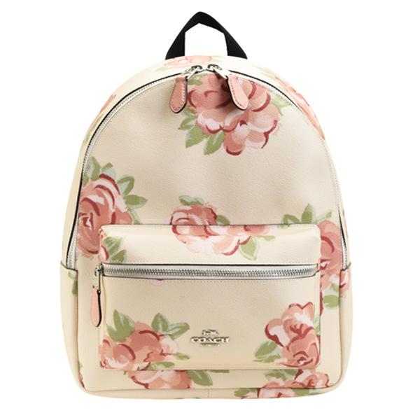 コーチ COACH バッグ リュックサック バックパック 花柄 アウトレット f45313svocv | バックパック バッグ バック かばん 鞄 通勤 小さい 小さめ レディース かわいい 可愛い オシャレ おしゃれ ブランド 本革 レザー