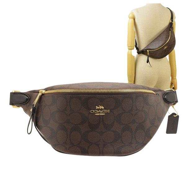 コーチ COACH ヒップバッグ ボディバッグ メンズ レディース シグネチャー アウトレット f48740imaa8 | バッグ バック かばん 鞄 肩掛け 斜め掛け 斜めがけ コンパクト かっこいい おしゃれ オシャレ ブランド レザー プレゼント