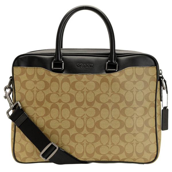 コーチ COACH ブリーフケース ビジネスバッグ メンズ シグネチャー アウトレット f72972qbtn2 | 2way ビジネスバッグ PCバッグ バッグ バック かばん 鞄 A4 大きい 大きめ 大容量 メンズ かっこいい オシャレ おしゃれ レザー ブランド