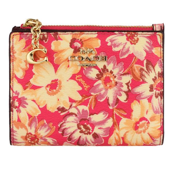 COACH コーチ 財布 アウトレット レディース 最安値 未使用品 3595impmc 花柄 二つ折り財布 新作