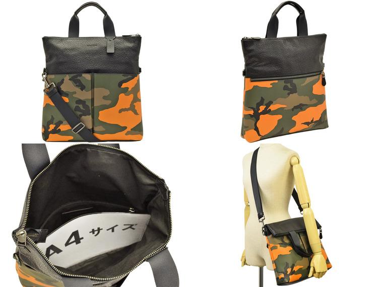 a1b2c631b76f コーチ/COACH [ カバン ] 鞄. A4サイズ対応2WAYバッグです。革部は男性らしい少し固めなレザー を使用!カモフラージュ柄と併せてクールな仕上がりのバッグです。