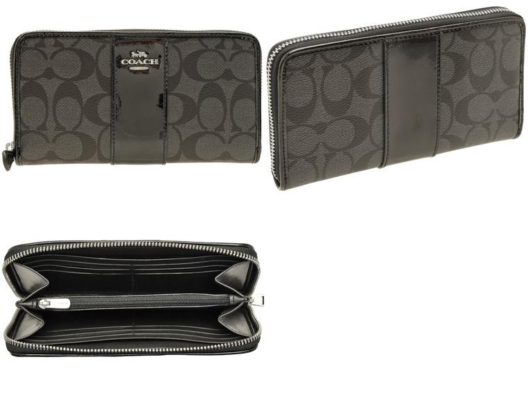 49bc01b1f7d8 コーチ/COACH [ 財布 ] サイフ. PVC素材にパテントレザーをプラスした長財布。高級感と上品さを兼ね備えた長財布はギフトにもおすすめ。