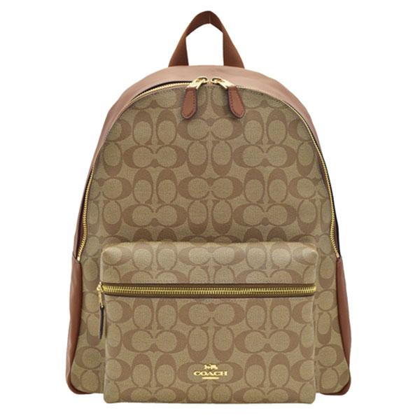 コーチ COACH リュックサック f58314ime74   バックパック バック バッグ 鞄 かばん 大きい 大きめ 大容量 通勤 旅行 レディース かわいい 可愛い おしゃれ オシャレ ブランド シグネチャー PVC 本革 アウトレット