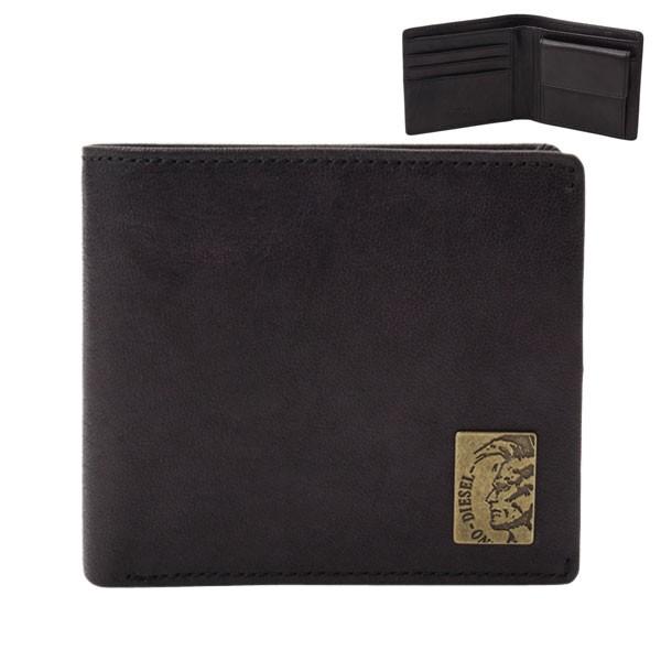 ディーゼル DIESEL メンズ 二つ折り財布 ブラック x04996-pr013-t8013 セール
