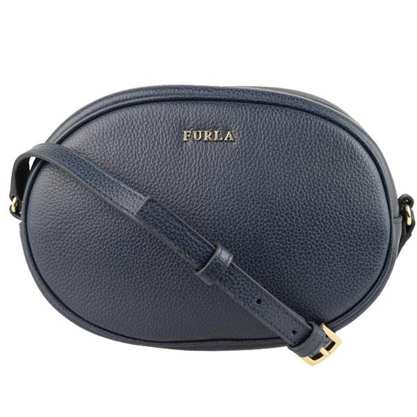中古 FURLA フルラ バッグ 新作 レディース 10%OFFクーポン配布中 斜めがけショルダーバッグ アウトレット cara-blu ブル 新色 おしゃれ かわいい 送料無料 オシャレ レザー 金具ゴールド ネイビー系 可愛い ファッション