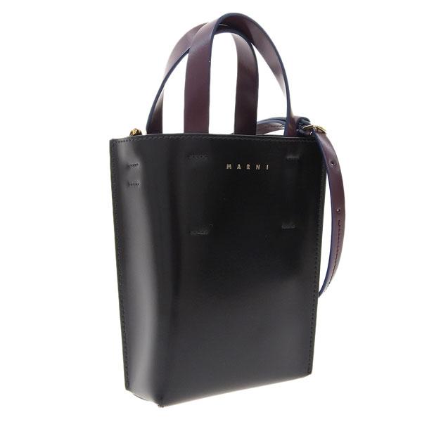 ファッション 可愛い おしゃれ かわいい オシャレ マルニ MARNI MUSEO ショルダーバッグ ブラック shmp0050y0-z2l30 贈物 レザー 2WAYハンドバッグ レディース バッグ