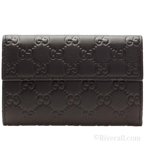 グッチ GUCCI 三つ折財布 折り財布 レディース ブラック グッチシマレザー 346057bnj1g1000