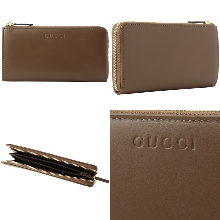 233937f31438 GUCCI [ サイフ ] 財布 フロントにロゴ刻印のみのシンプルなデザインの長財布です。ポケットが豊富で収納力抜群!