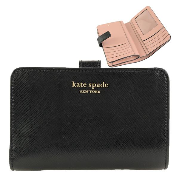 ケイトスペード KATE SPADE 二つ折り財布 spencer compact pwru7748-001 | さいふ サイフ ウォレット 財布 ブランド財布 カード入れ 多い レディース かわいい 可愛い 使いやすい ブランド レザー