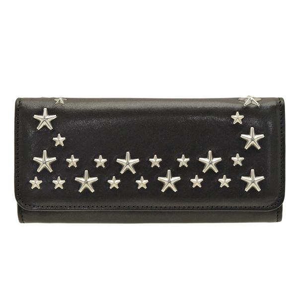 ジミーチュウ JIMMY CHOO 二つ折り長財布 nino-black | ファスナー 小銭入れ さいふ サイフ ウォレット 財布 カード入れ 多い レディース かわいい 可愛い 大人可愛い おしゃれ オシャレ ブランド レザー