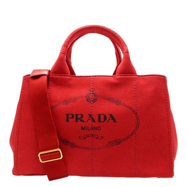 プラダ PRADA 2Wayハンドバッグ トートバッグ カナパ CANAPA レディース レッド キャンバス 1bg642canapa-ross item715