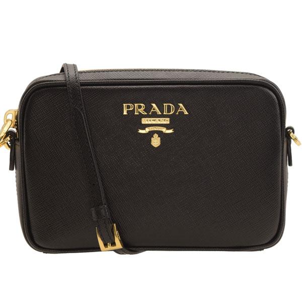 プラダ PRADA 斜めがけショルダーバッグ ミニ 1bh036saflux-nero | バッグ バック かばん 鞄 通勤 肩掛け 斜め掛け レディース かわいい 可愛い オシャレ おしゃれ ブランド 本革 母の日 春 令和 記念