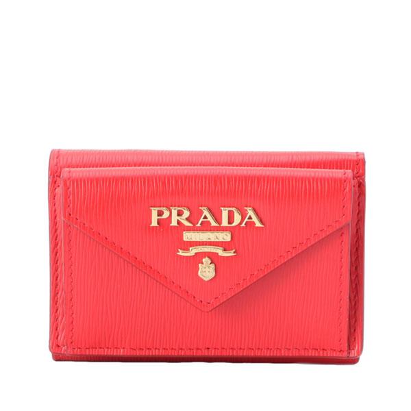 プラダ PRADA ショップ袋付き 三つ折り財布 1mh021vimo-lac1-zz | ウォレット さいふ 財布 ブランド 三つ折り ミニ財布 コンパクト オシャレ おしゃれ レディース かわいい 可愛い 大人可愛い レザ-