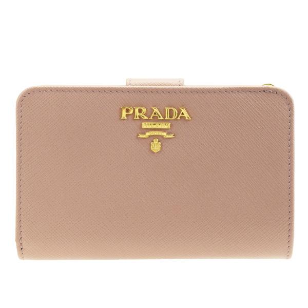 プラダ PRADA 二つ折り財布 1ml225safmet-cipr | ウォレット サイフ さいふ 財布 ミニ財布 小銭入れ ファスナー カード入れ 多い レディース かわいい 可愛い オシャレ おしゃれ 小さい 小さめ ブランド 母の日 春 令和 記念
