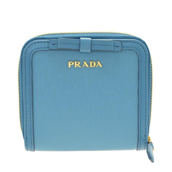 プラダ PRADA ショップ袋付き 二つ折り財布 リボン アウトレット 1ml522vimofi-mare | ファスナー 小銭入れ サイフ ウォレット 財布 ブランド財布 カード入れ 多い レディース 可愛い 使いやすい おしゃれ ブランド 本革 item715