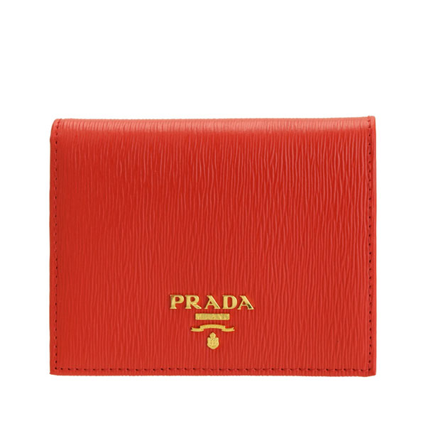 プラダ PRADA ショップ袋付き 二つ折り財布 アウトレット 1mv204vitmov-lacc   さいふ サイフ ウォレット 財布 ブランド財布 小銭入れ コンパクト 軽量 小さめ 小さい レディース かわいい 可愛い オシャレ おしゃれ ブランド