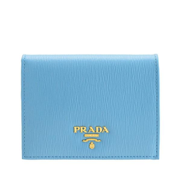 プラダ PRADA 二つ折り財布 アウトレット 1mv204vitmov-mare   さいふ サイフ ウォレット 財布 小銭入れ コンパクト 軽量 小さめ 小さい レディース かわいい 可愛い オシャレ おしゃれ ブランド